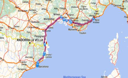 Billets de train: BARCELONE - NICE - Liaisons FR