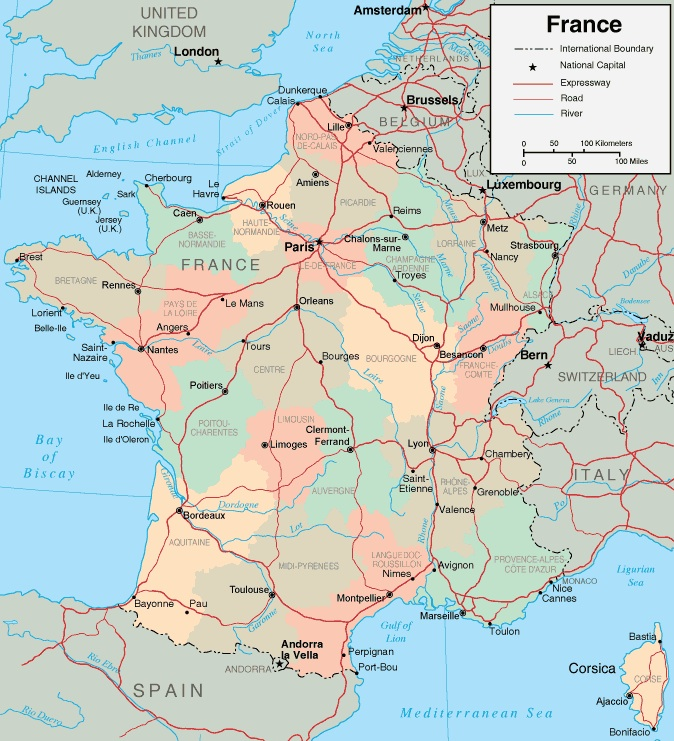 Map of France France Travel Guide