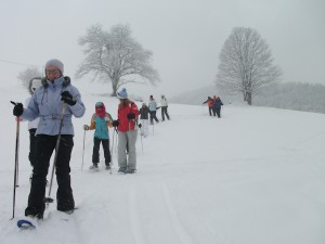 Christmas Day snowshoe walk