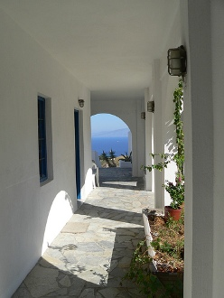 Hostel in Santorini