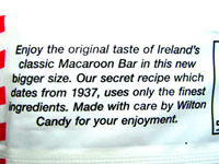 Macaroon Bar label