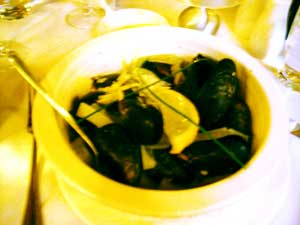 mussels served in Hatter's restaurant in Athlone