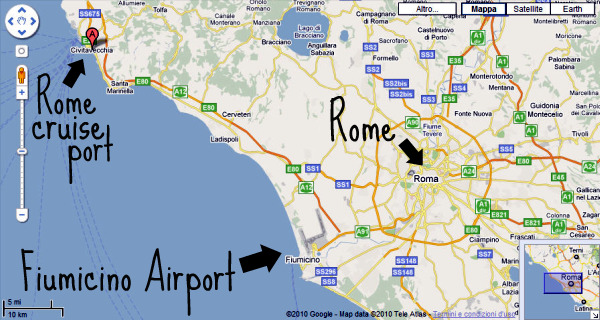 Rome cruise terminal where it is how to get there - Rome civitavecchia italy cruise port ...