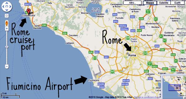 Una mirada del hombre airports in italy rome - Train from rome to port of civitavecchia ...