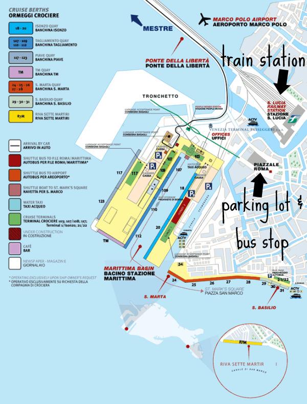 Venice Italy Cruise Ship Port Fitbudha: Venice Cruise Ship Terminal Map At Infoasik.co