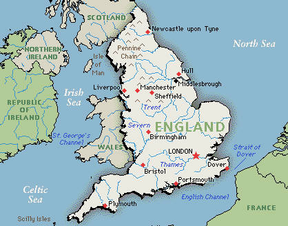 Image result for map of england