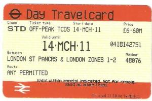 London underground tickets