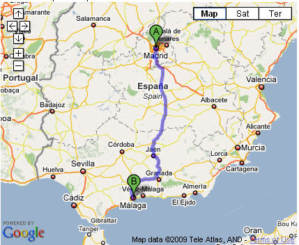 map-madrid-to-malaga