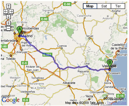 map-madrid-to-valencia