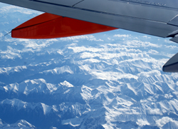 Flight over the Swiss Alps